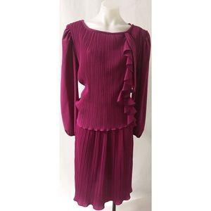 Vintage Ruffle Dress Size Large